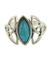 Antique Silver/Blue Stretch Ring