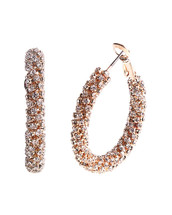 Crystal Chubby Hoops: Gold Or Silver