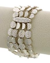 Stretchy Discs Bracelet: Gold Or Silver