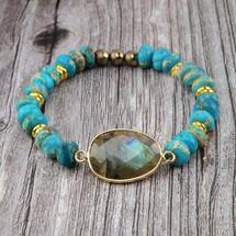 Turquoise + Labradorite Bracelet