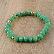 Chrysophrase Semi Precious Beaded Bracelet