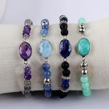 Semi Precious Beaded Bracelet: More Colors