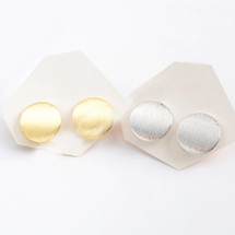 Little Round Stud Earrings: Gold Or Silver