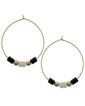 Soho Beaded Hoop Earrings