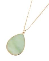Amazonite Semi Precious Teardrop Stone Necklace