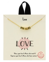 LOVE Blocks Necklace: Gold Or Silver