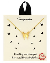 Transformation Butterfly Necklace: Gold Or Silver