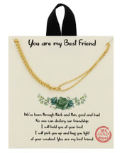 You Are My Best Friend Necklace: Gold Or Silver