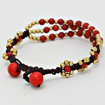 Bohemian Triple Strand Bead Bracelet