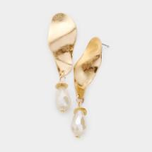 Metal Wave Earrings
