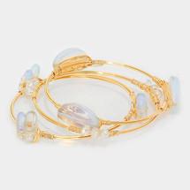 Opal Semi Precious Bracelet Set/Stack