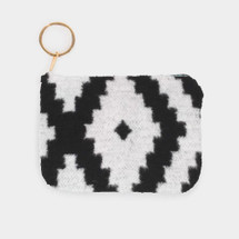western Vibes Coing Purse - White