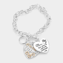 Mom, Your Love Is With Me Charm Toggle Bracelet