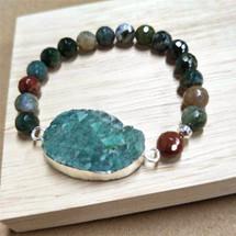 Australia Jade Agate Beaded Bracelet