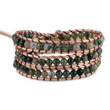 Mojave Semi Precious Stone Leather Wrap Bracelet