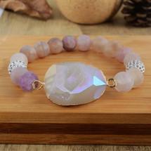 Fire Agate Semi Precious Healing Bracelet