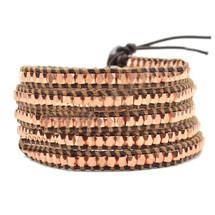 Namib Leather Stone Wrap Bracelet