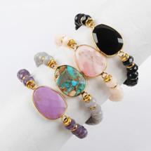 Semi Precious Stone Bracelets - More Colors
