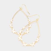 Teardrop Butterfly Earrings - Ivory