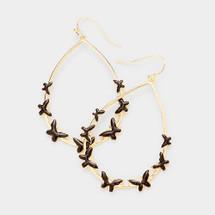 Teardrop Butterfly Earrings - Black