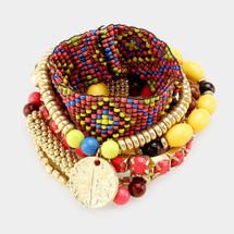 Boho Beaded Bracelet Set