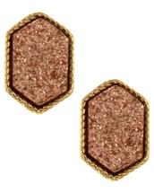 Rose Gold Stones Stud Earrings