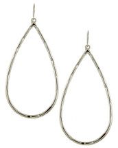 Classic Teardrops Hoops: Silver Or Gold
