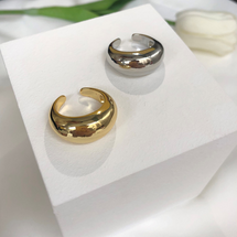Curved Smooth Ring: Gold Or Silver