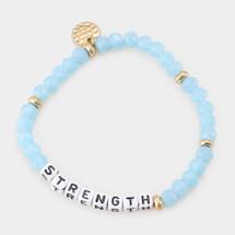 Turquoise Strength Beaded Bracelet