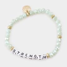 Mint Strength Beaded Bracelet