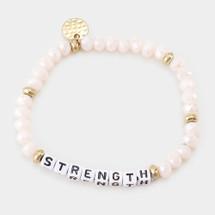 Light Pink Strength Beaded Bracelet