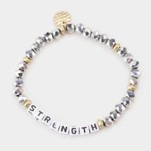Silver Strength Beaded Bracelet