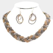 Braided Tri-Tone Necklace