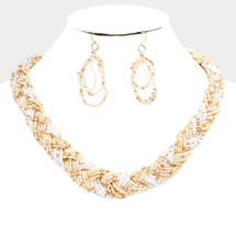 Light Tones Braided Necklace