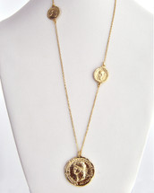 Coin Station Necklace: Gold Or Silver