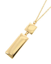 Square + Rectangle Long Necklace