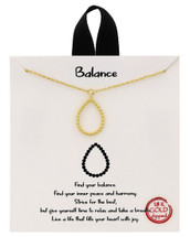 Balance Necklace: Gold Or Silver