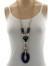 Navy Long Necklace