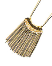 Chain Fringe Long Necklace