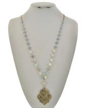 Mint Stone Fleur Necklac