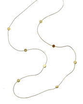 White + Gold Discs Necklace