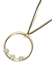 Long Jeweled Circle Necklace