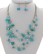 Turquoise Wired Necklace