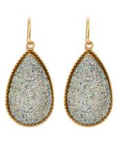 Silver and Gold Teardrop Earrings