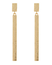 Rectangular Drop Earrings: Gold Or Silver