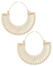 Wave Hoop Earring - White
