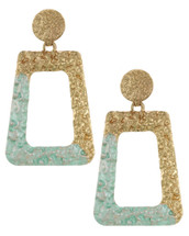 Textured Doorknocker Earrings: Mint