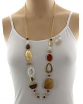 Earthy Tones Long Necklace