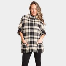 Plaid Pattern Pockets Sweater