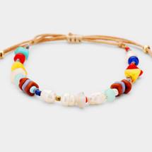 Freshwater Pearl Colorful Adjustable Bracelet